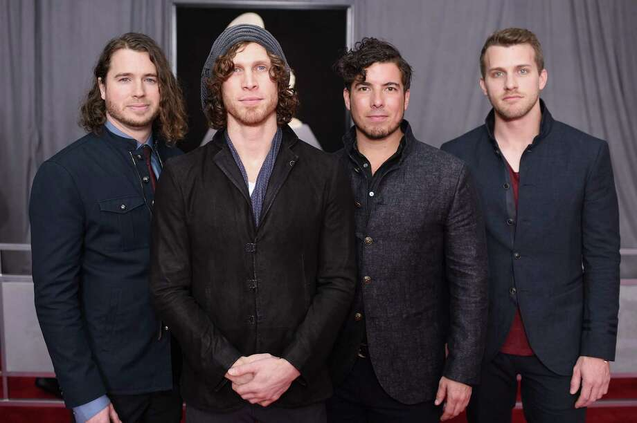 Mark Vollelunga, Jonny Hawkins, Daniel Oliver and Ben Anderson of Nothing More attend the 60th annual Grammy Awards in New York. Photo: Dimitrios Kambouris /Getty Images For NARAS / 2018 Getty Images