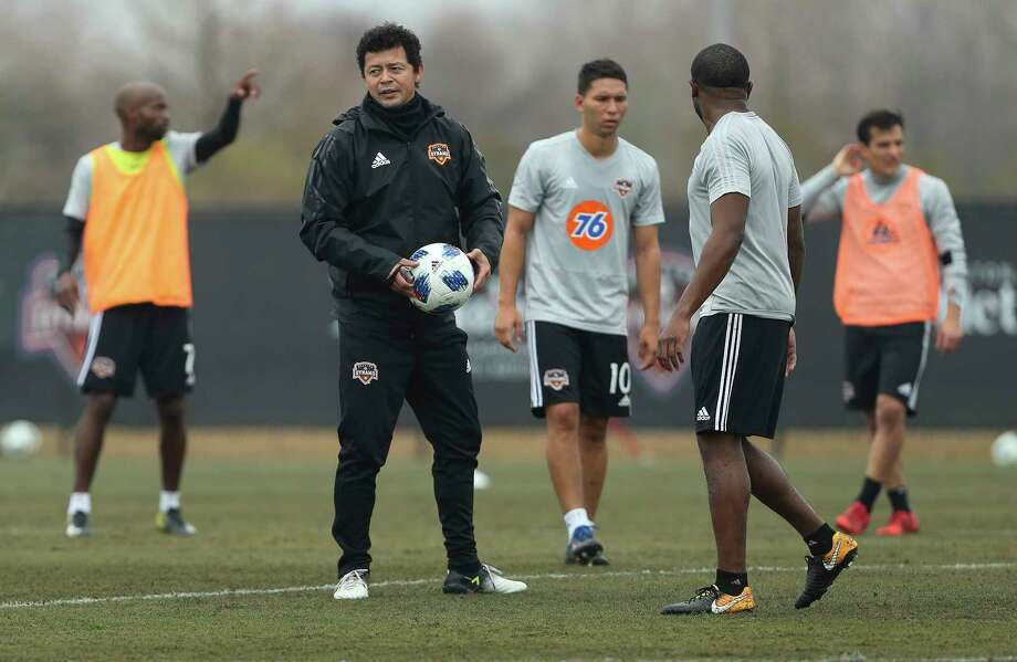 Dynamo head coach Wilmer Cabrera during the open practice day for fans at Houston Sports Park on Saturday, Jan. 27, 2018, in Houston. Photo: Yi-Chin Lee, Houston Chronicle / © 2018  Houston Chronicle