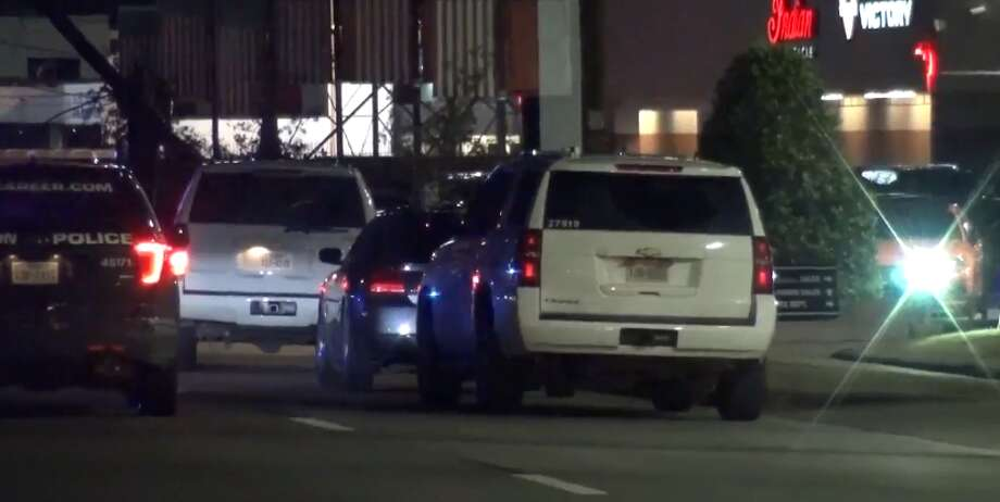 A man was found dead from a gunshot wound in northwest Houston Sunday night, police said. Houston Police officers were dispatched to the Southwest Freeway near Bisonnett Street around 8:45 p.m. There, they found the deceased male on the ground, and a car crashed into a utility pole. Photo: Metro Video LLC / For The Houston Chronicle