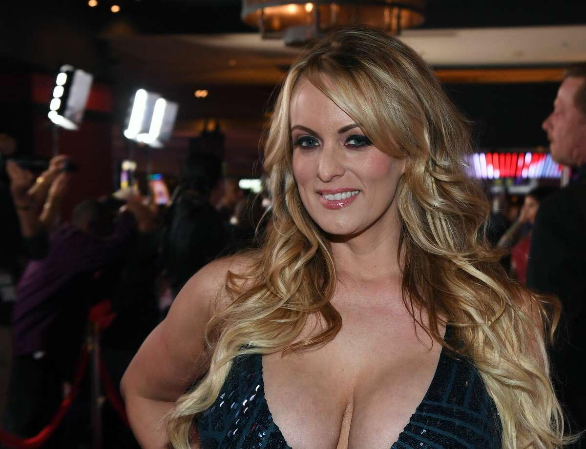 Adult film actress/director Stormy Daniels attends the 2018 Adult Video News Awards at the Hard Rock Hotel & Casino on January 27, 2018 in Las Vegas, Nevada. (Photo by Ethan Miller/Getty Images)