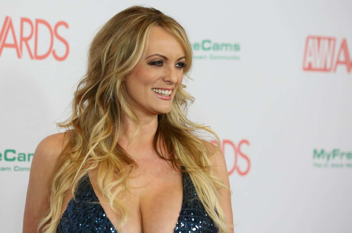 Adult film actress/director Stormy Daniels attends the 2018 Adult Video News Awards at the Hard Rock Hotel & Casino on January 27, 2018 in Las Vegas, Nevada. (Photo by Gabe Ginsberg/Getty Images)