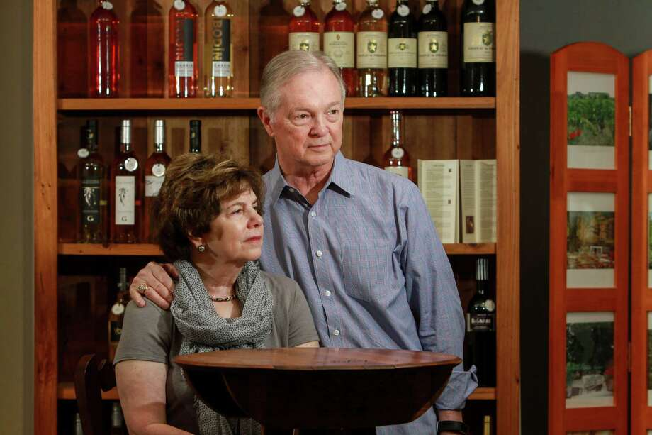 Tim Smith and Phyllis Adatto of French Country Wines Photo: Gary Fountain, For The Chronicle / Copyright 2017 Gary Fountain