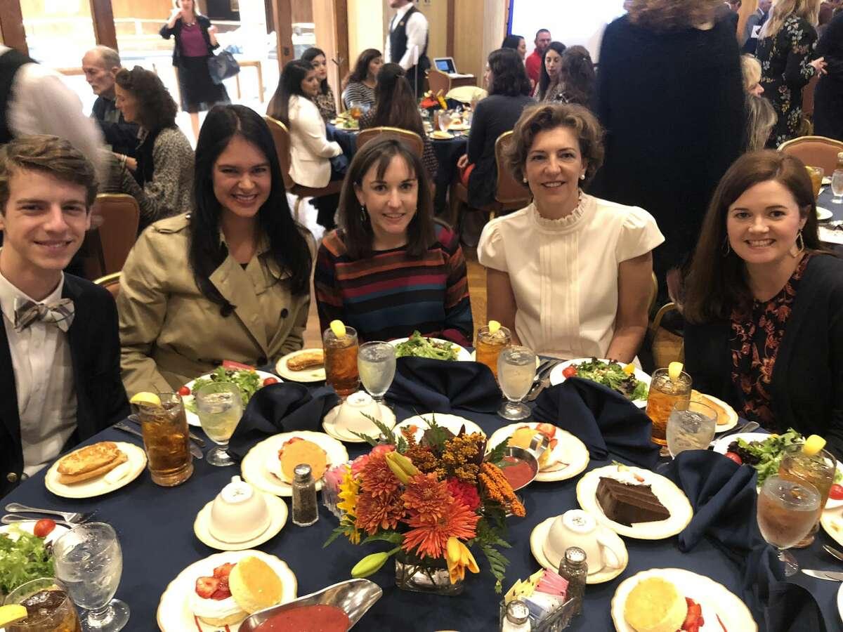 Philanthropy luncheon: Tripp Hankins, from left, Elisabeth Christensen, Lauren Blackletter, Adrianne Clifton and Carrie Brown