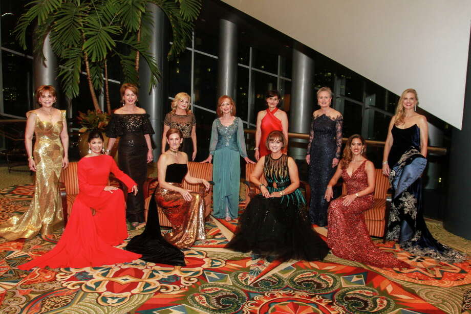 Honorees for the 31st annual Winter Ball, Kristy Bradshaw, seated from left, Stephanie Tsuru, Leigh Smith and Kristina Somerville. Standing, from left, Hallie Vanderhider, Ileana Trevino, Kim Padgett, Carol Sawyer, Denise Castillo-Rhodes, Sharleen Walkoviak and Amy Pierce. Photo: Gary Fountain, For The Chronicle/Gary Fountain / Copyright 2018 Gary Fountain