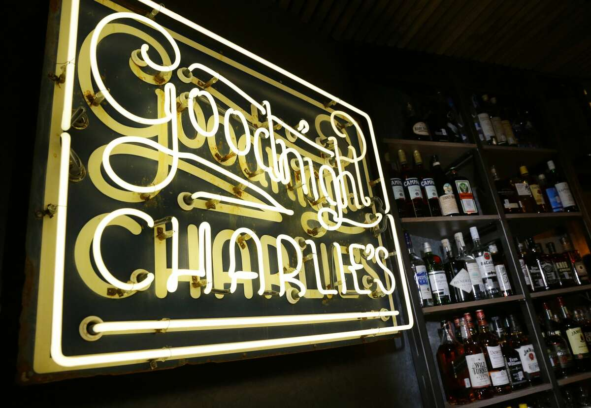 The sign by the bar at Goodnight Charlie's, a new honky-tonk in the Montrose district.