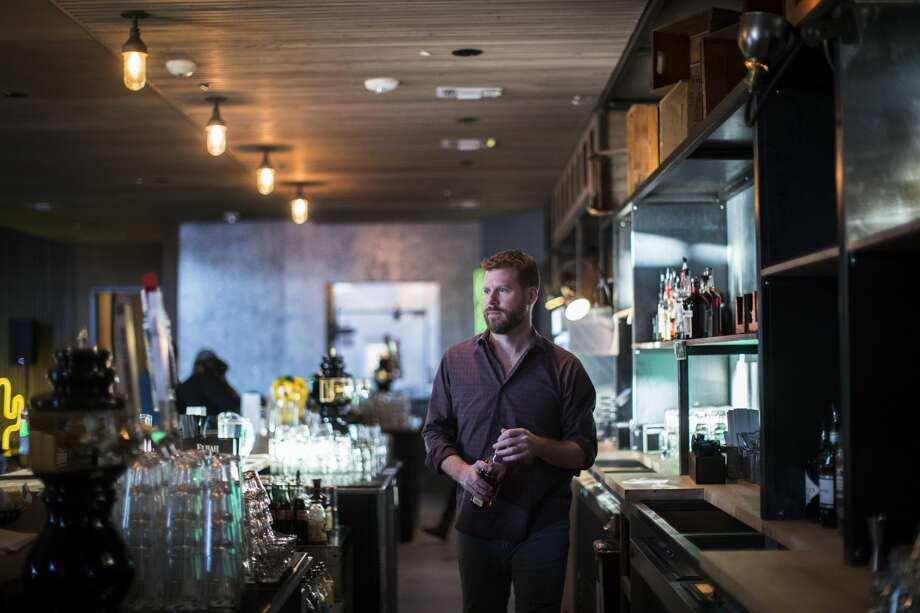 Master Sommelier David Keck behind the bar at honky-tonk Goodnight Charlie's in Montrose.   Click through the photos to see some of Houston's best wine bars.  Photo: Marie D. De Jesus/Houston Chronicle
