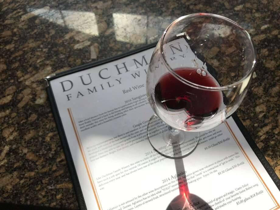 A taste of the 2014 montepulciano at Duchman Family Winery. Photo: Emily Spicer / San Antonio Express-News