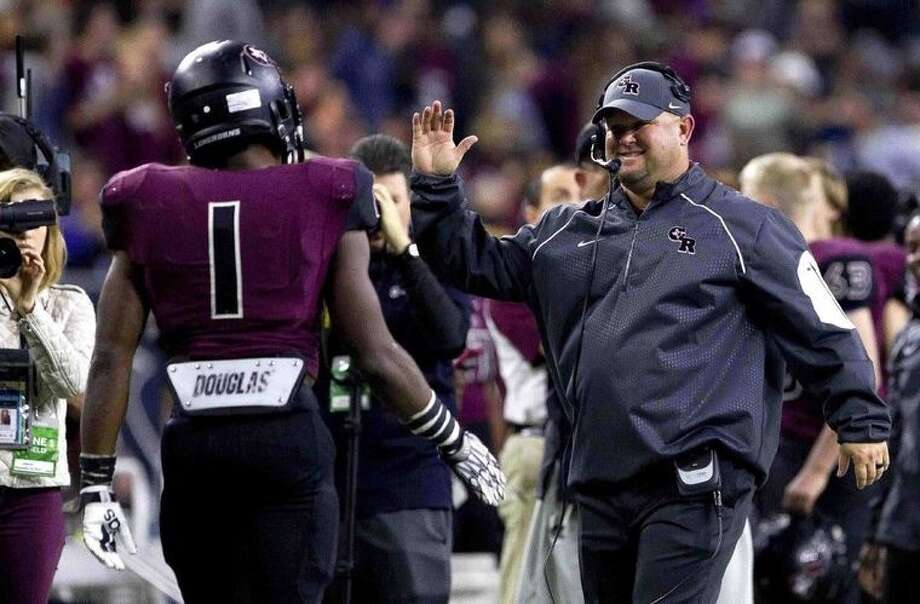 George Ranch head football coach Ricky Tullos is expected to be named Pearland High School's head football coach at a special school board meeting Wednesday. / Jason Fotchman