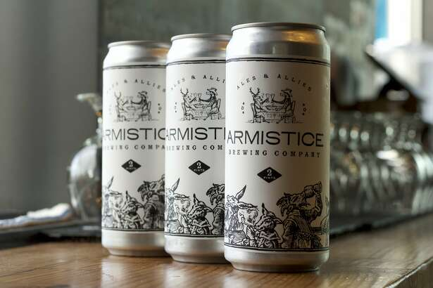 Beers from Armistice Brewing Company in Richmond, Calif.