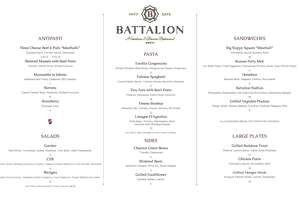 Battalion's new weekday lunch menu launches Feb. 5.