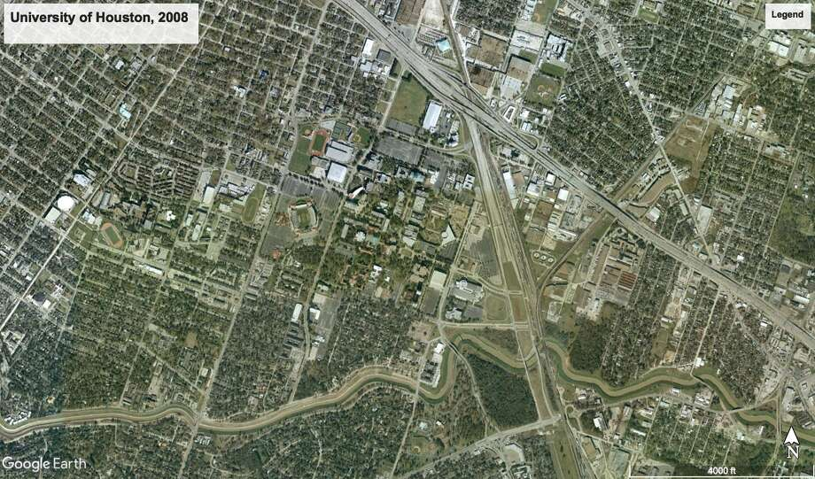 Maps: See the University of Houston's change over the decade