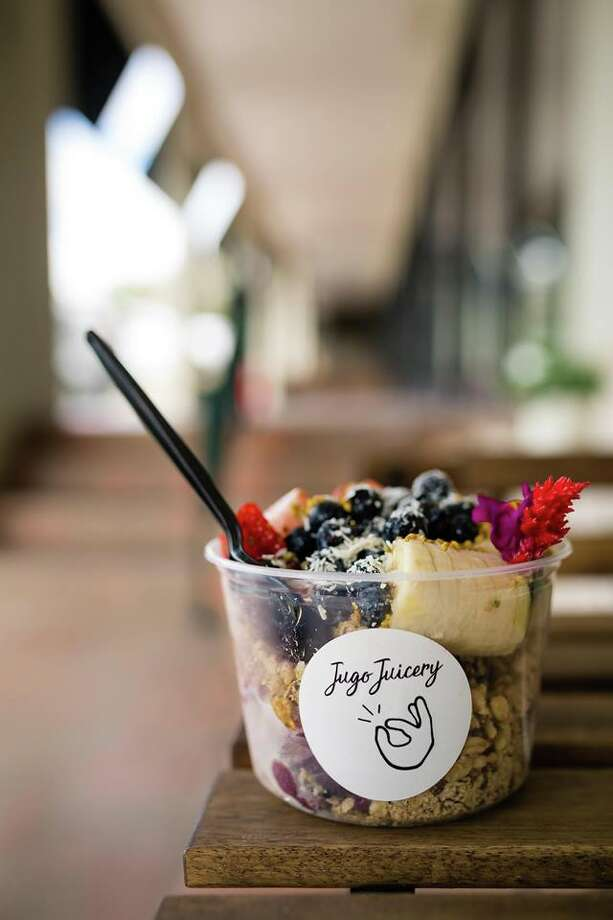 Jugo Juicery, which started about a year and a half ago at the 11858 Wurzbach location, will add a third store at 9708 Business Parkway in Helotes within 30 days and a fourth in Leon Springs in about 60-90 days. Photo: Courtesy, Jugo Juicery