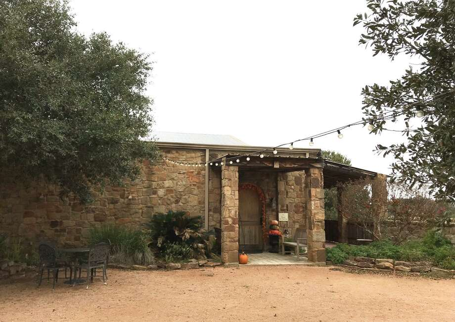 """The Inwood Estates Vineyards tasting room entrance. Inwood Estates was named one of the Best Hill Country Wineries in the 2018 """"Top 100 Dining & Drinks"""" guide. Photo: Emily Spicer /San Antonio Express-News"""