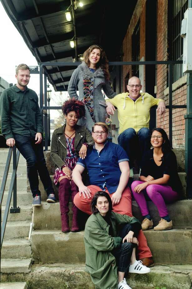 The 2018 Artists in Residence include, in the top row from left, Joe Wozny, Daniela Antelo and Jhon Stronks; in the middle from left, Candice D'Meza, Camron Alexander and Brenda Cruz; and at the bottom is Nancy Douthey. Photo: Courtesy Photo