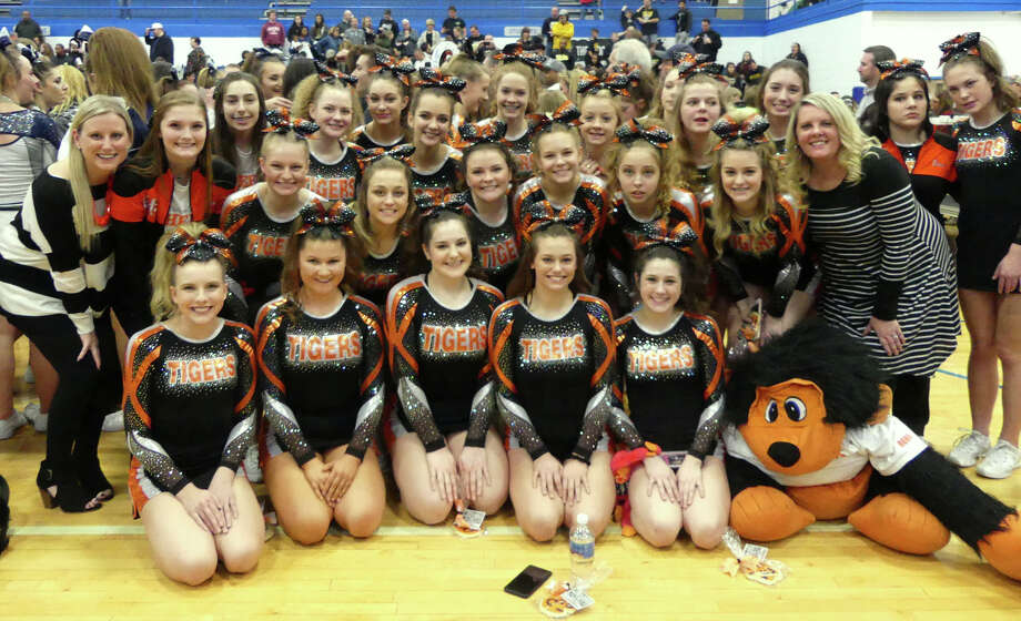The Edwardsville Varsity Cheerleaders received third place in the Large Varsity Division at Sectionals held in Bartonville, Illinois on January 27, 2018. This qualifies the team to advance to the IHSA State Competition in Bloomington, Illinois this weekend. Photo: For The Intelligencer