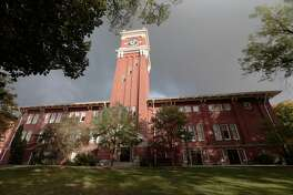 PULLMAN, WA - OCTOBER 12: A general view of Bryan Hall on the Washington State University campus prior to the game between the Oregon State Beavers and the Washington State Cougars on October 12, 2013 in Pullman, Washington. (Photo by William Mancebo/Getty Images)