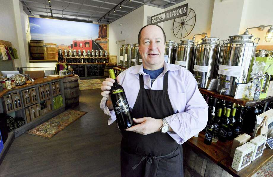 Rick Doyle, owner of Stagecoach Olive Oil & Vinegar Co., is photographed on Wednesday, Jan. 24, 2018 at its store at 180 Bedford St., in downtown Stamford, Conn. Photo: Matthew Brown / Hearst Connecticut Media / Stamford Advocate