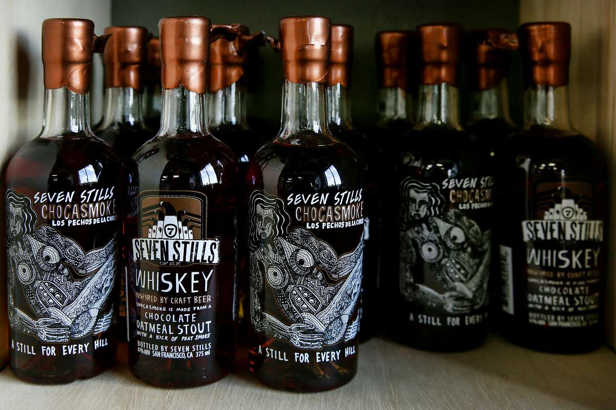 Seven Stills whiskey, Thursday, Jan. 25, 2018, in San Francisco, Calif. The brewery and distillery is located at 1439 Egbert Ave.