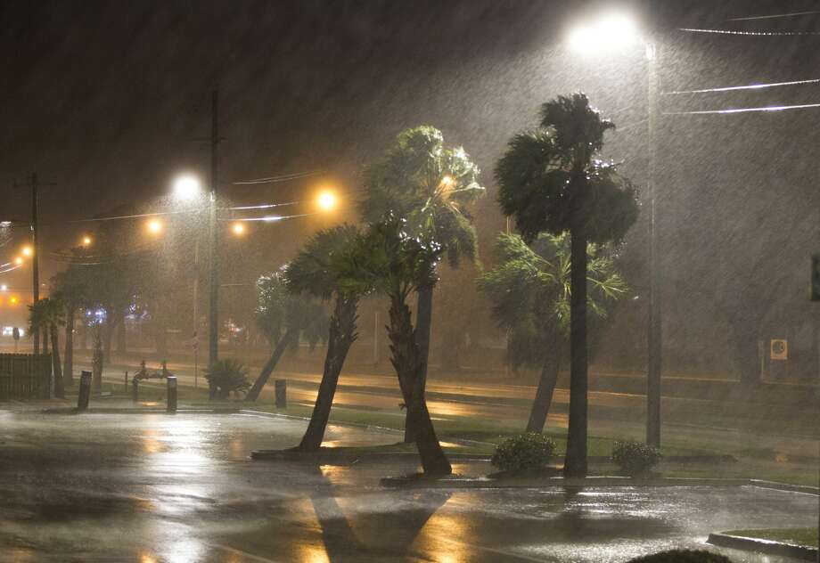 FILE — The eye of Hurricane Nate pushes ashore at a category 1 storm in Biloxi, Mississippi October 7, 2017. Rodolfo Ortuno, of Houston, pleaded guilty to a drug trafficking charge Friday stemming from an arrest Aug. 24, 2017, a day before Hurricane Harvey struck the Texas Gulf Coast. Ortuno was pulled over in Mississippi by a deputy, who found 7 kilos (15.4 pounds) of cocaine in the trunk. Photo: Mark Wallheiser/Getty Images