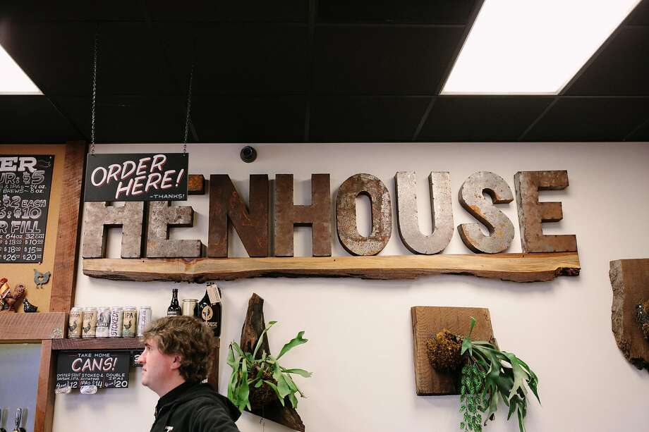 HenHouse brewery in Santa Rosa has seen an increase in grocery store sales since shelter-in-place orders began, but that hasn't made up for the loss of draft beer sales. Photo: Mason Trinca / Special To The Chronicle 2018