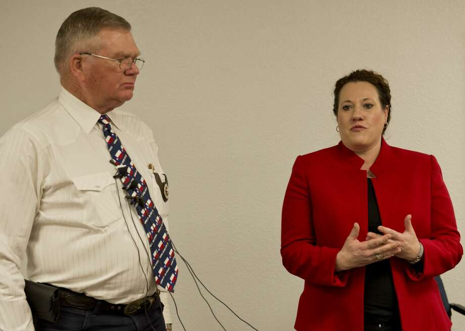 Midland Sheriff Gary Painter and County Attorney Laura Nodolf speak 01/29/18 about recovering a body over the weekend they believe may be connected to a cold case of missing teens from 2015. Tim Fischer/Reporter-Telegram Photo: Tim Fischer/Midland Reporter-Telegram