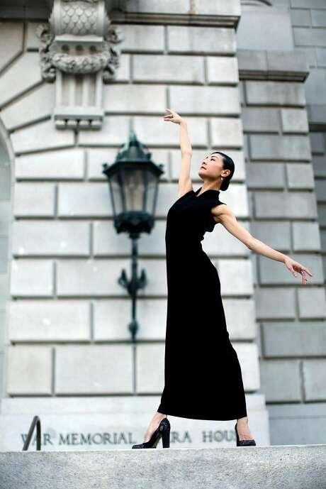 S.F. Ballet dancer Yuan Yuan Tan is seen outside the War Memorial Opera House. Photo: Scott Strazzante, The Chronicle