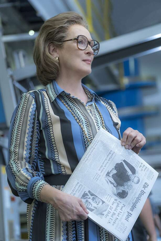 """Meryl Streep in """"The Post,"""" one of the weaker films nominated for an Oscar. Photo: Niko Tavernise, Associated Press"""