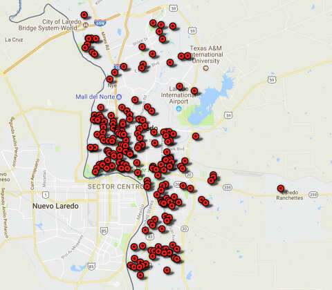 Map Of Texas Showing Laredo.Maps Show Number Of Sex Offenders In Laredo Neighboring Cities