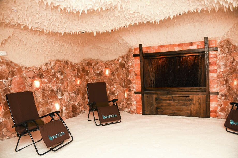 Last fall, Embassy Suites Hotel & Spa at Brooks opened the city's first salt cave, comprised of 22 tons of salt, to create an environment that helps alleviate allergy and asthma symptoms as well as stress, according to the website. Photo: Courtesy, Brooks