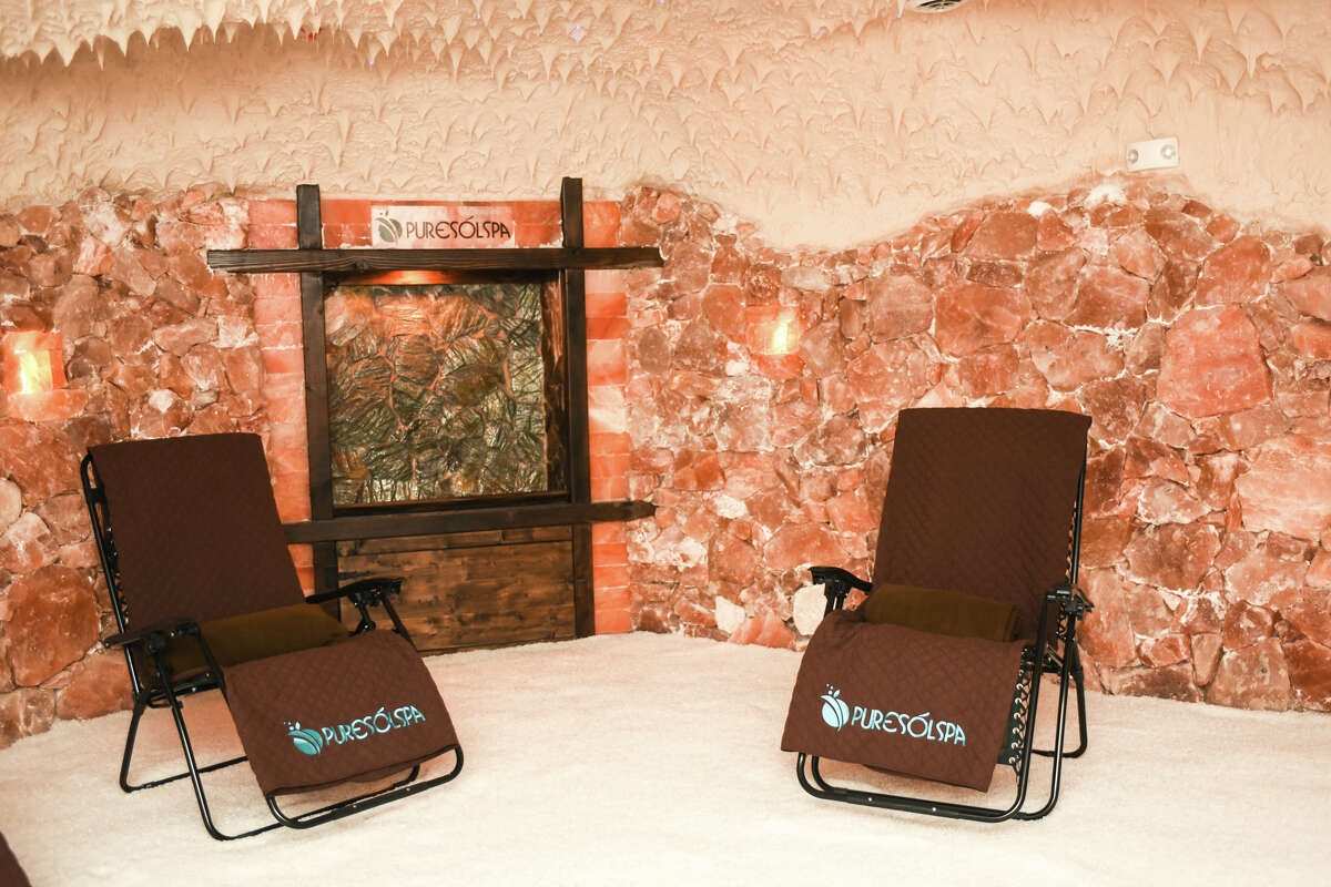 Last fall, Embassy Suites Hotel & Spa at Brooks opened the city's first salt cave, comprised of 22 tons of salt, to create an environment that helps alleviate allergy and asthma symptoms as well as stress, according to the website.