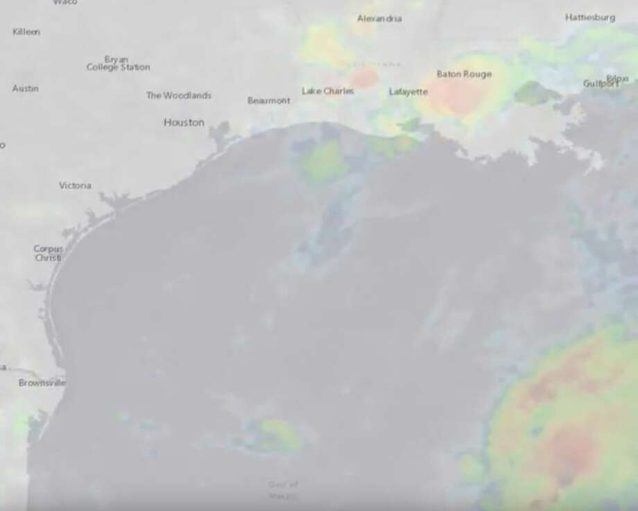 A fascinating new video from the National Weather Service's National Hurricane Center shows the path of Hurricane Harvey in less than 30 seconds. Photo: National Weather Service