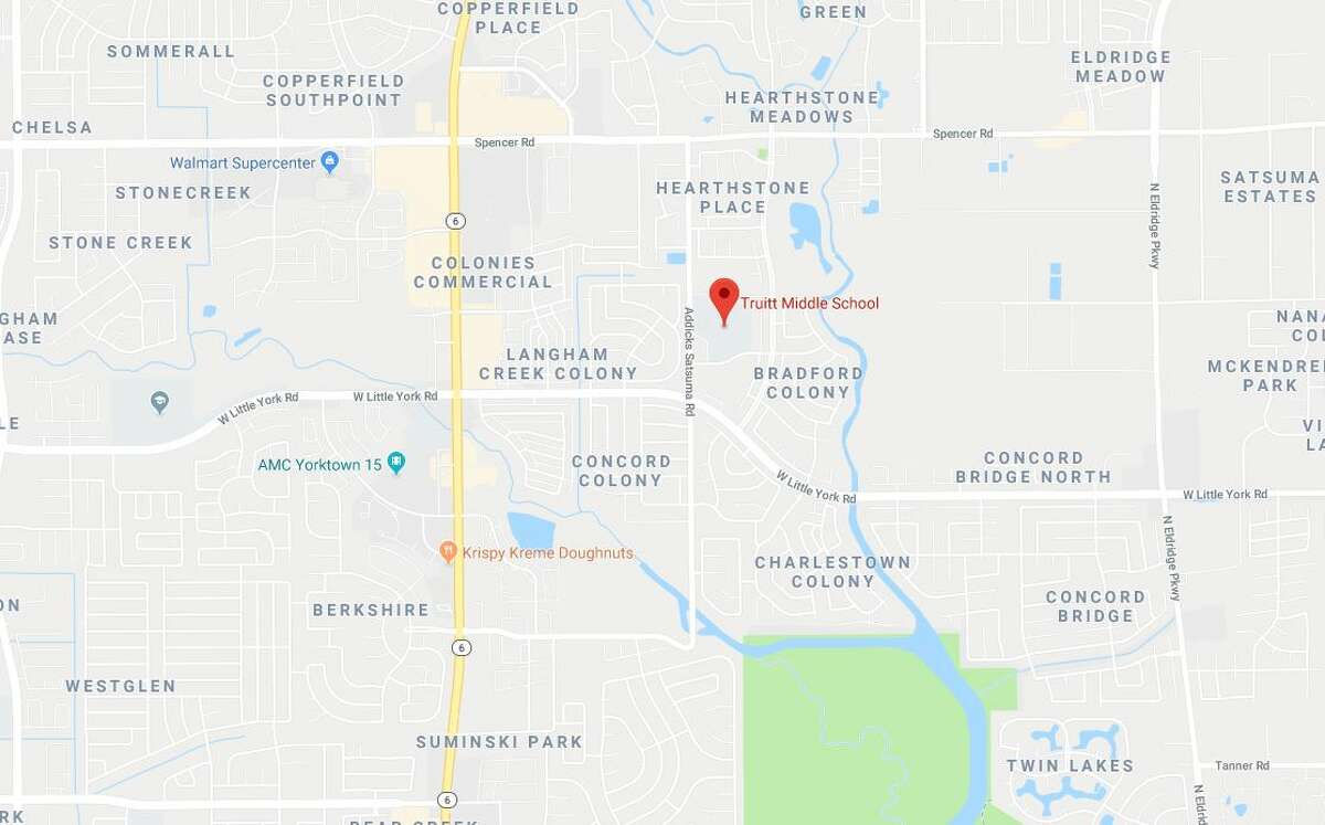 The Harris County Sheriff's Office is investigating an officer-involved shooting in northwest Harris County near a Cy-Fair ISD middle school.