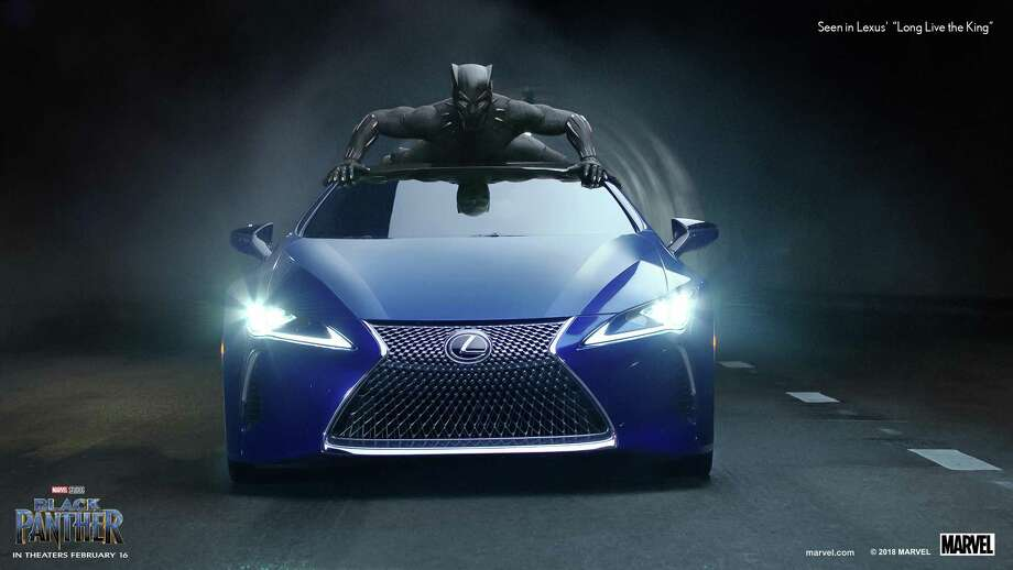 "This photo provided by Lexus shows an image of the Lexus ""Black Panther"" Super Bowl spot. For the 2018 Super Bowl, marketers are paying more than $5 million per 30-second spot to capture the attention of more than 110 million viewers. Photo: /Associated Press / Lexus"