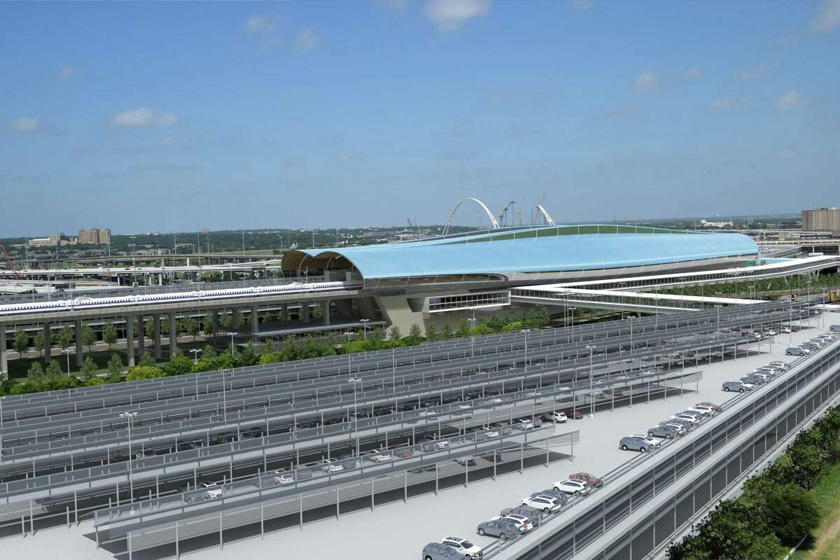 Texas Central released renderings of its proposed Dallas station on Jan. 29, 2018. The station is planned for a vacant tract south of downtown.