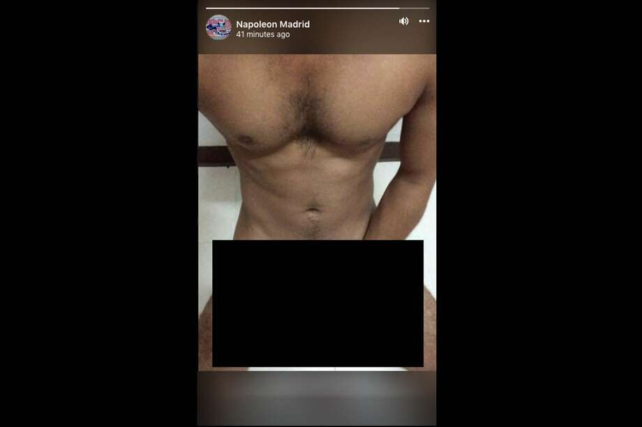 "The Facebook page of former San Antonio mayoral candidate Napoleon Madrid, who ran last for the city's top office in 2017, posted a crude image of a nude man at about 3:30 p.m. to the social network's ""stories"" feature. Photo: Facebook/Napoleon Madrid"