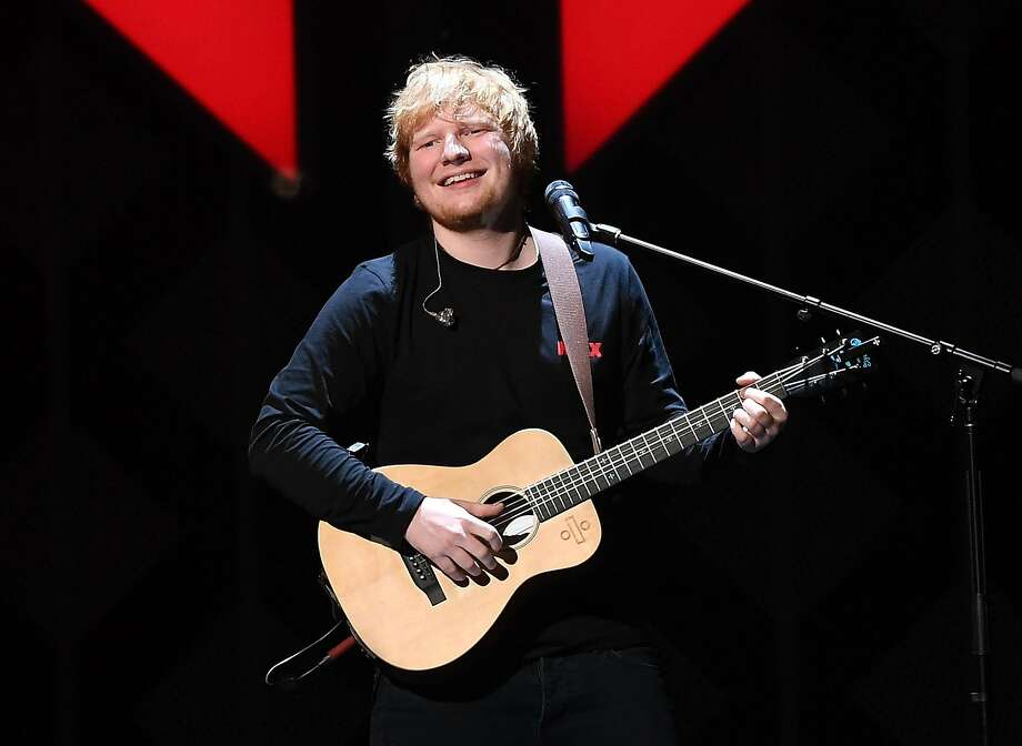 Britain's Ed Sheeran is the first artist to have two songs debut in the U.S. top 10 in the same week. Photo: ANGELA WEISS, AFP/Getty Images