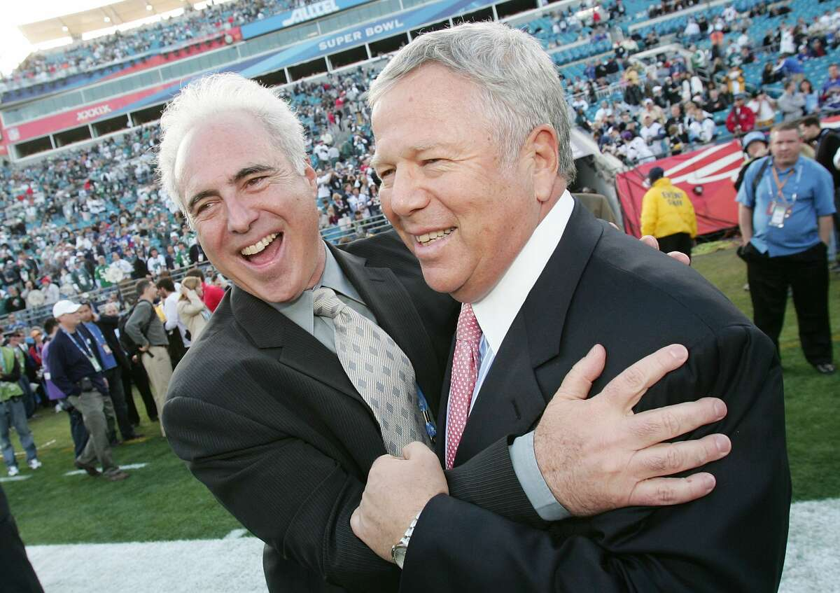 Who will be mentioned first during the broadcast? Eagles owner Jeffery Lurie: EvenPatriots owner Robert Kraft: 5-to-7