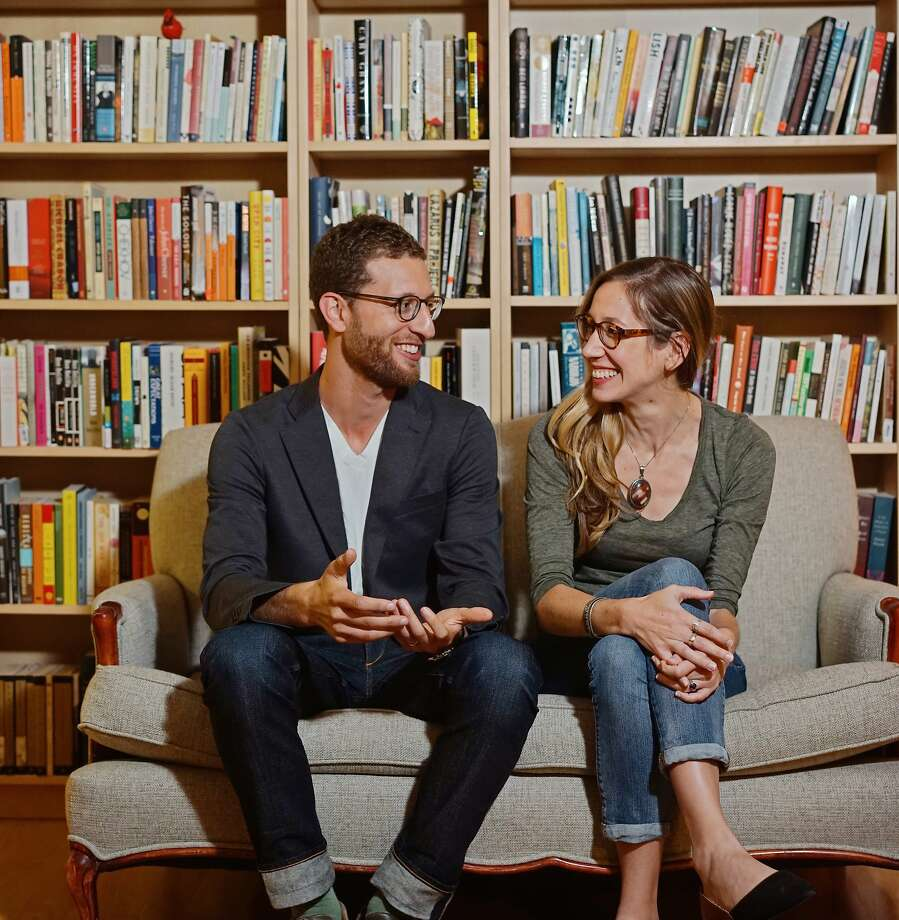 Adam Z. Levy and Ashley Nelson Levy, the founders of Transit Books, a nonprofit publisher based in Oakland. Photo: Jennifer Baquing