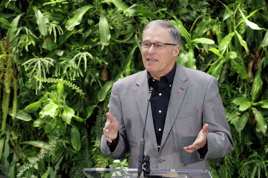 Governor Jay Inslee:  The prospective Democratic presidential candidate has proposed a $54.4 billion biennial budget, up 20 percent and more than $10 billion.  He would pay for it with $3.7 billion in new taxes. . Photo: GENNA MARTIN, SEATTLEPI.COM / SEATTLEPI.COM