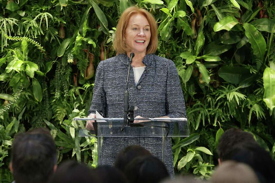 Seattle Mayor Jenny Durkan speaks during an opening day event for The Amazon Spheres, Monday morning, Jan. 29, 2018. The Spheres are an innovative workplace filled with more than 40,000 plants from around the world, that will be available to Amazon employees beginning this week. Photo: GENNA MARTIN, SEATTLEPI.COM / SEATTLEPI.COM