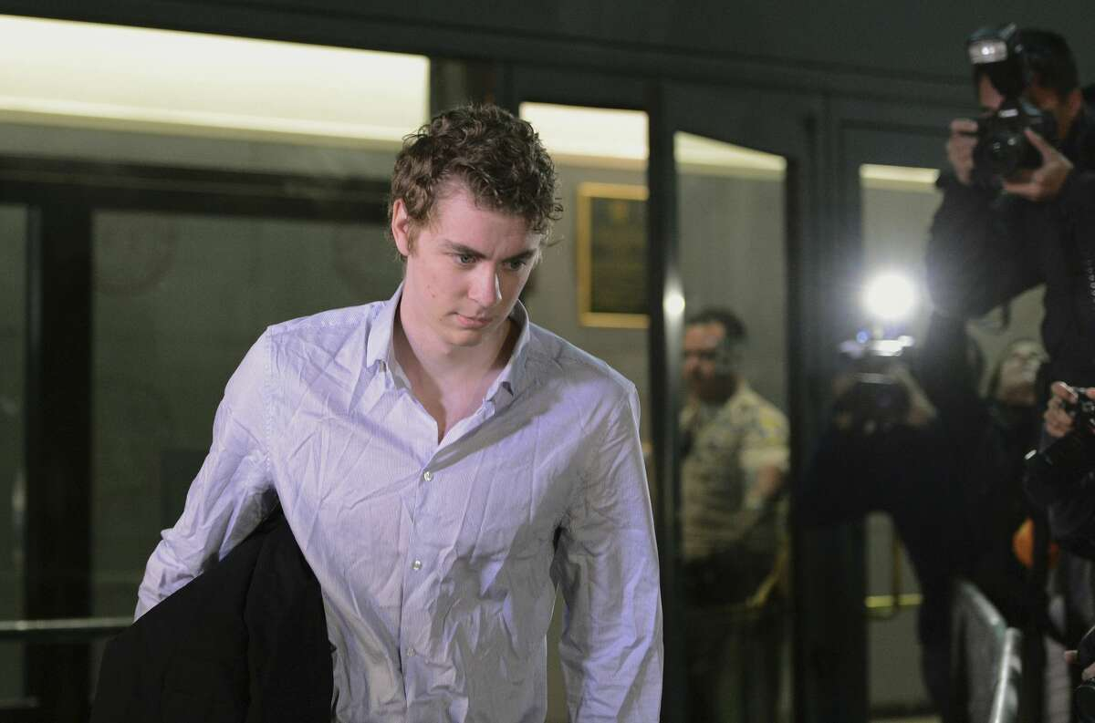 FILE - In this Sept. 2, 2016, Brock Turner leaves the Santa Clara County Main Jail in San Jose, Calif. A woman sexually assaulted by Turner outside a campus fraternity party will no longer participate in the creation of a plaque after the university rejected her suggestions for a quote marking the place where she was attacked. (Dan Honda/Bay Area News Group via AP, File)