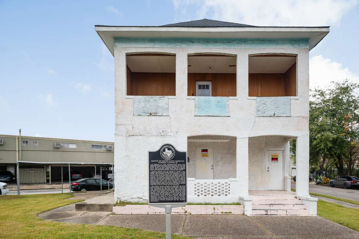 LULAC Council 60 Clubhouse, 3004 Bagby in Houston, in a contributed photo associated with the Jan. 30, 2018 announcement of its designation as a National Treasure by the National Trust for Historic Preservation.