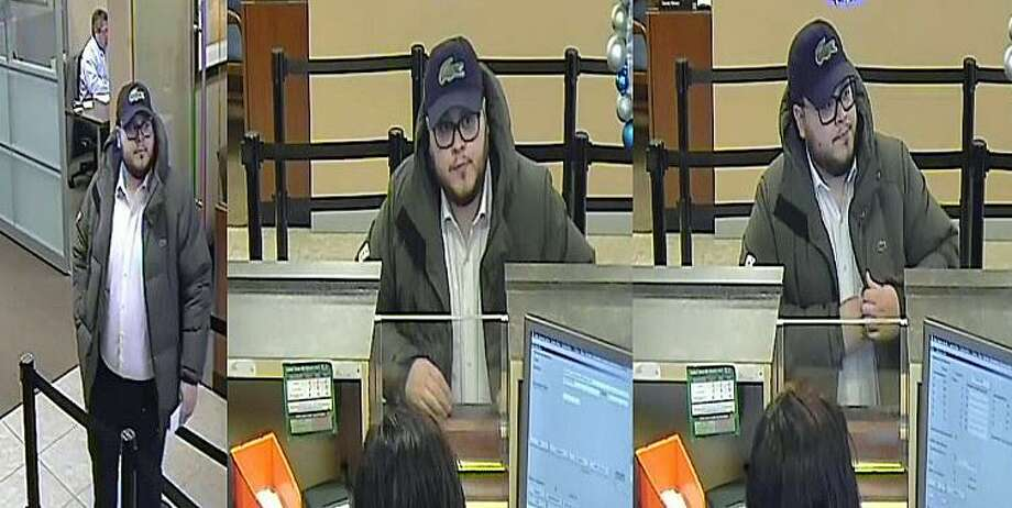 Milford police are looking for this suspect who used a resident's personal information to create a fake Connecticut driver's license and ID card. They said the suspect then used the cards to make two bank withdrawals from two New York state banks. The suspect used withdrawal slips on Dec. 1 to get money from two Chase banks in Rye and Rye Brook, N.Y. Photo: Milford Police Department Photo