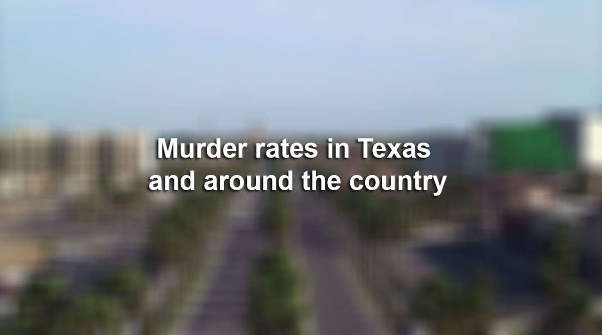 Murder rates in Texas and around the country.