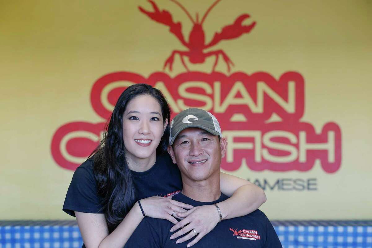 Laura Hsu and her husband Troy Nguyen are the owners of Casian Crawfish and photographed at the restaurant. Casian Crawfish is a new Vietnamese crawfish restaurant that is out to make the hottest/spicy Vietnamese crawfish in Houston.