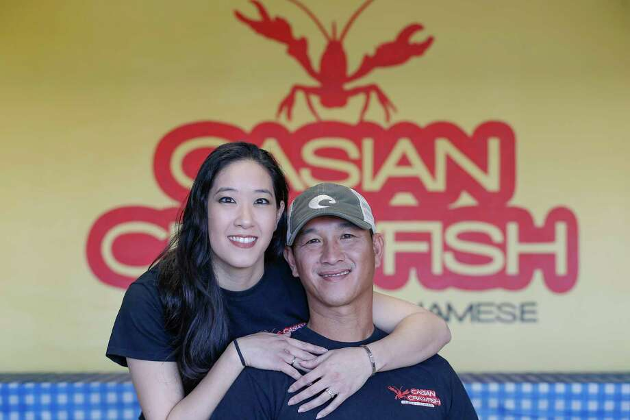 Laura Hsu and her husband Troy Nguyen are the owners of Casian Crawfish and photographed at the restaurant. Casian Crawfish is a new Vietnamese crawfish restaurant that is out to make the hottest/spicy Vietnamese crawfish in Houston. Photo: Steve Gonzales, Houston Chronicle / © 2018 Houston Chronicle