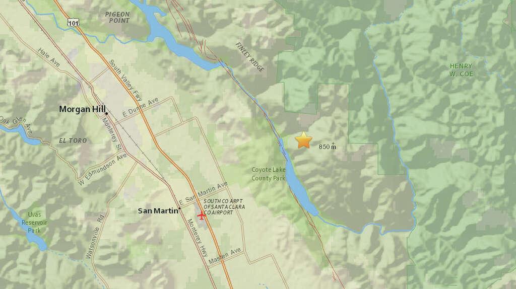 San Jose Monterey Map%0A San Jose Earthquake Map Usgs A magnitude earthquake struck near San Martin  CA on Tuesday at