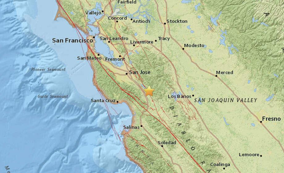 A magnitude 2.6 earthquake struck near San Martin, CA on Tuesday at 5:57 a.m. Photo: USGS