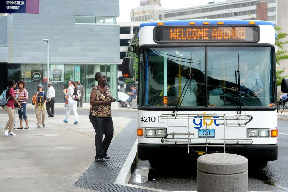 Greater Bridgeport Transit's buses each average 30 riders per hour. Photo: Ned Gerard / Hearst Connecticut Media / Connecticut Post
