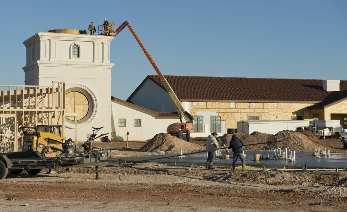 Construction continues 01/25/18 on The Way Retreat Center off Todd Road. Tim Fischer/Reporter-Telegram